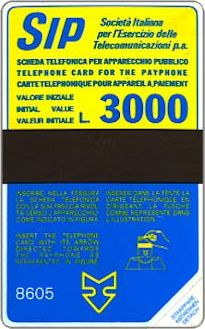 Phonecards - History of Italian cards 1: the yellow-blue SIDA