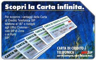 Phonecards - History of Italian cards 5: the Carta Infinita