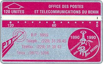 Phonecards - Benin 1990