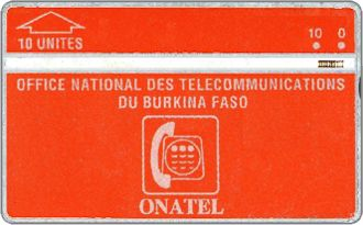 Phonecards - Burkina Faso 1991