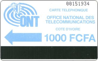 Phonecards - Costa d'Avorio 1988