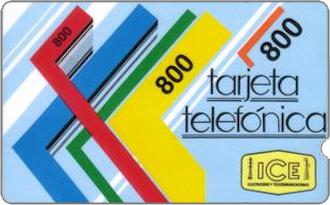 Phonecards - Costa Rica 1989