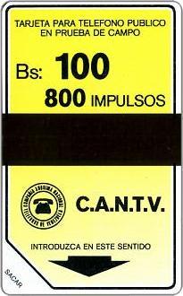 Schede Telefoniche - Venezuela 1984