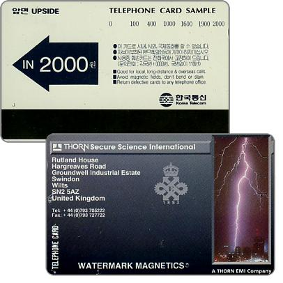 Phonecards - Autelca the magnetic cards with Thorn-EMI technology