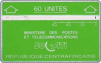 Phonecards - Central African Republic 1987