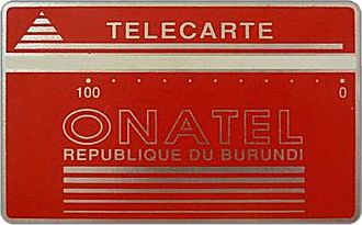 Phonecards - Burundi 1988