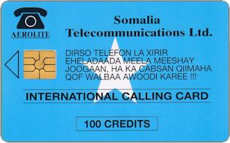 Phonecards - Somalia 1993