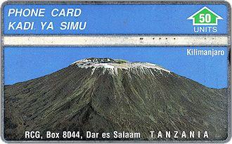 Phonecards - Tanzania 1992