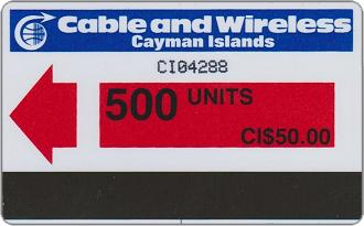 Phonecards - Cayman Islands 1986