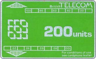 Phonecards - Great Britain 1981