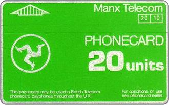 Phonecards - Isle of Man 1987