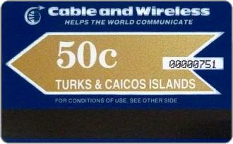 Phonecards - Turks e Caicos 1987