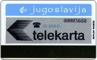 Phonecards - Yugoslavia 1989