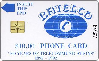 Phonecards - Bahamas 1992