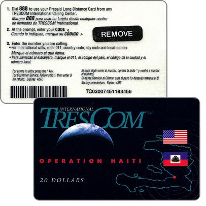 Phonecards - Haiti 1996