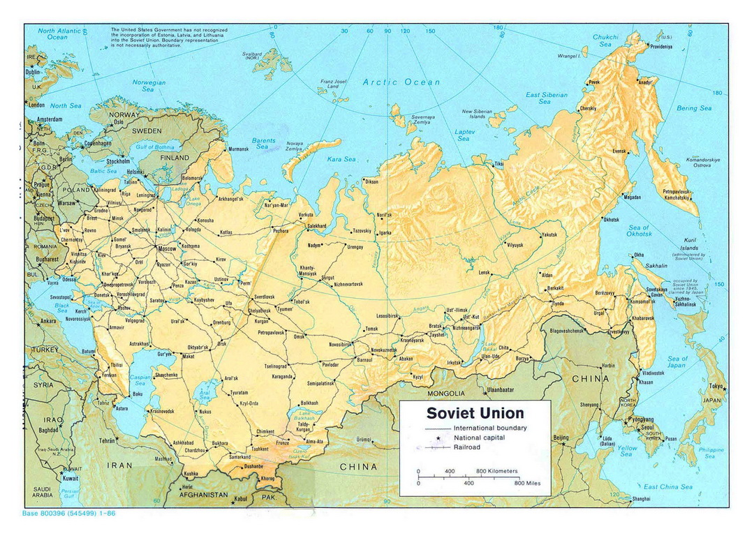 Map of USSR