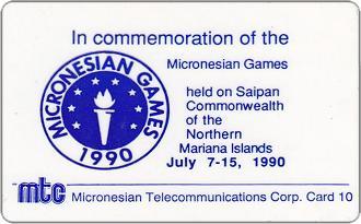 Phonecards - Northern Mariana Islands 1990