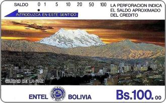 Phonecards - Bolivia 1990
